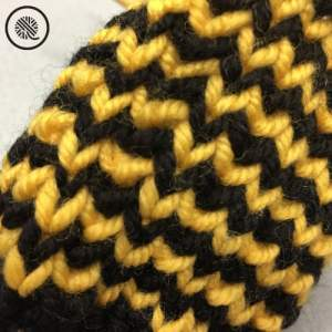 Youth Fingerless Mitts Pattern close up