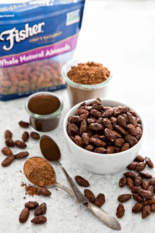 Mocha Roasted Almonds Good Life Eats