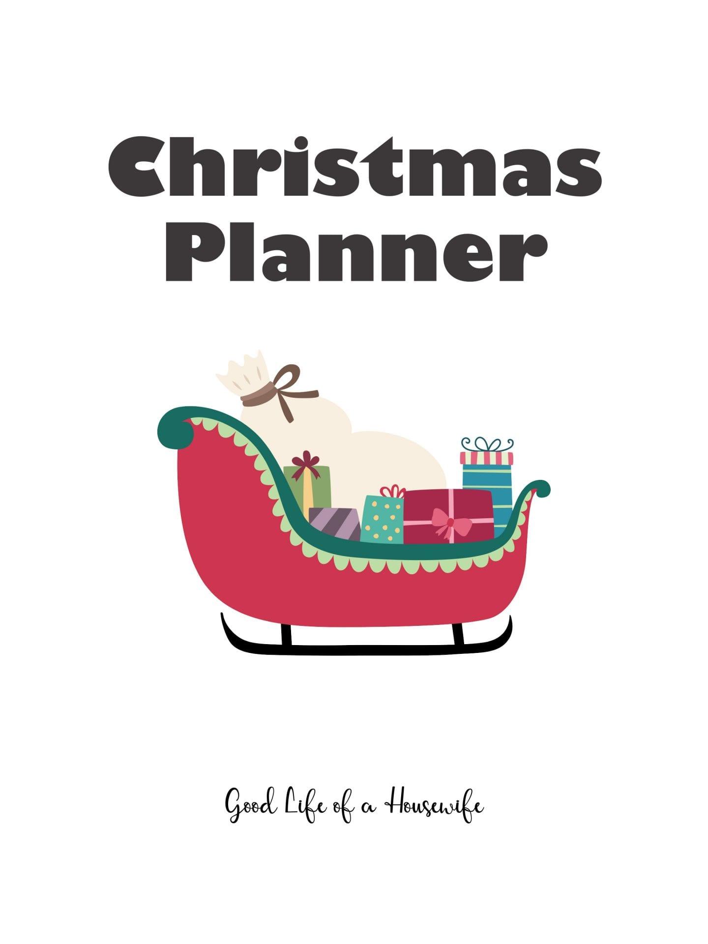 Christmas Planner Free Printable Good Life Of A