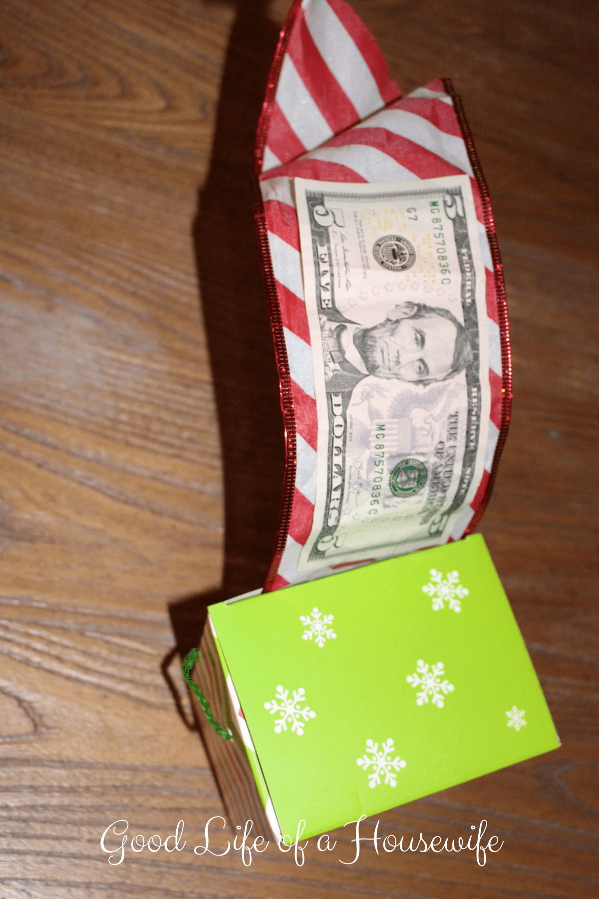 Ideas for Cash Gifts at Christmas - Good life of a housewife