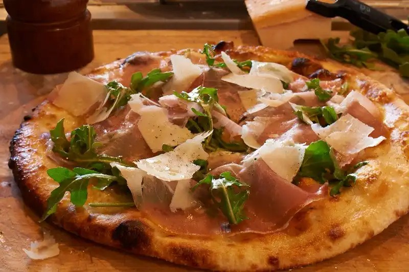 Pizza at Redd Wood in Yountville. Photo credit is Nick Vasilopoulos.