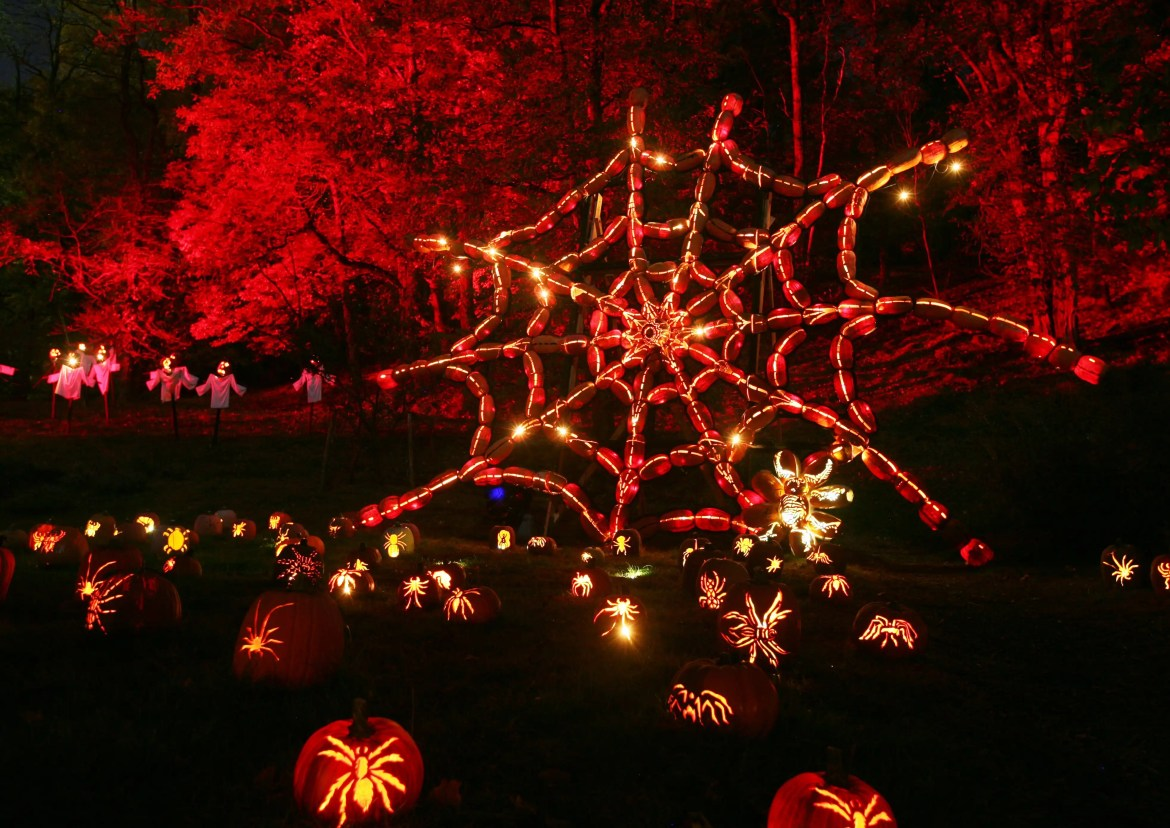 This is a view of the Great Jack O'Lantern Blaze at Van Cortlandt Manor in Croton-on-Hudson, N.Y. on November 6, 2011. (Photo by Tom Nycz)