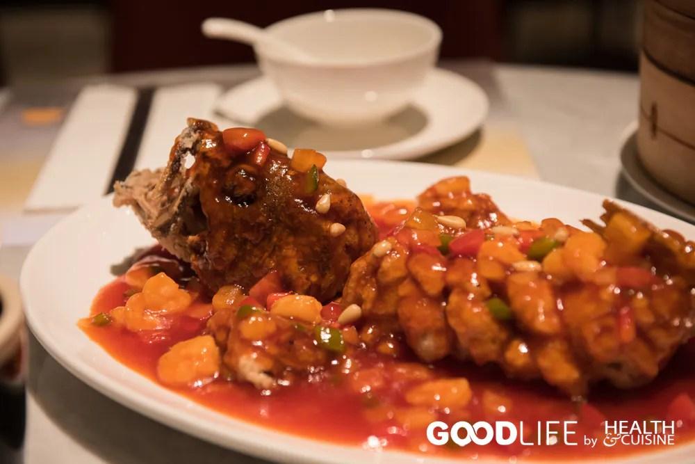 ปลาทอดราดซอส @ Wang Jia Sha