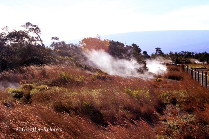 Hawaii Volcano Steam Vents