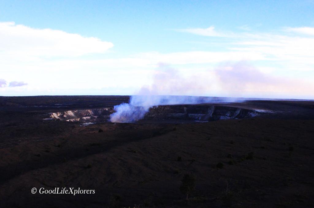 Hawaii Kilauea Volcano During the Day