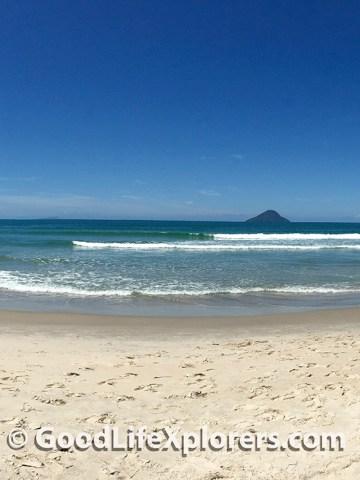 Panaroma of Juquehy beach