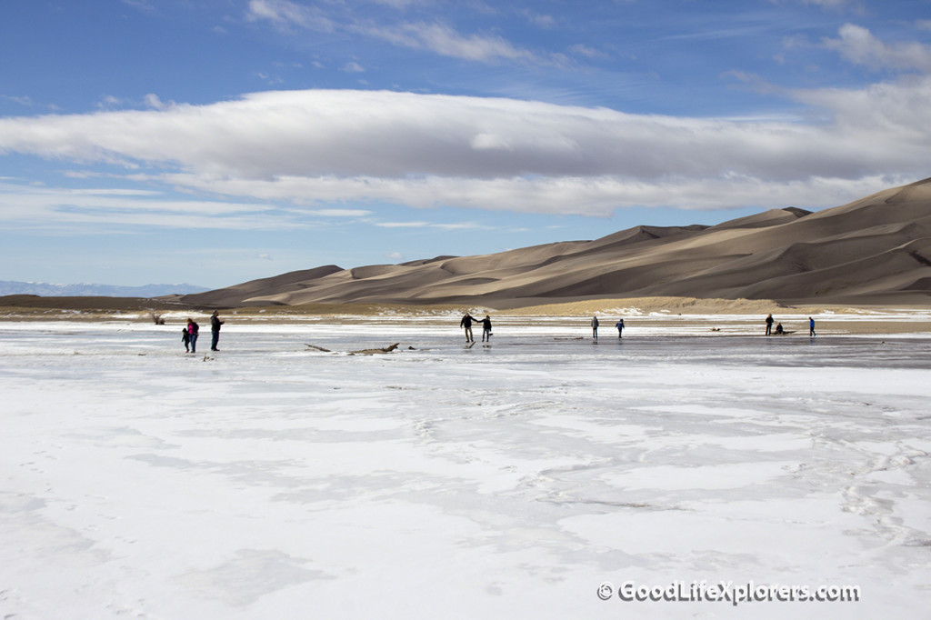 Frozen Creek at Great Sand Dunes National Park