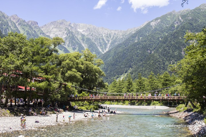 Kappa Bridge in Kamikochi Japan