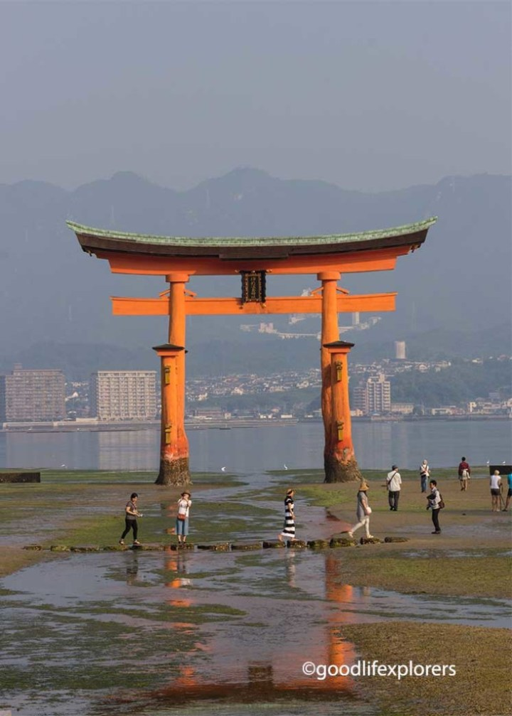 Itsukushima Shrine Torii Gate Miyajima Japan during low tide