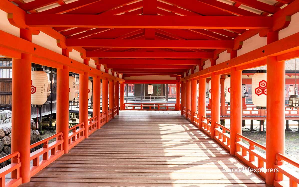 Itsukushima Shrine in Miyajima Island Japan
