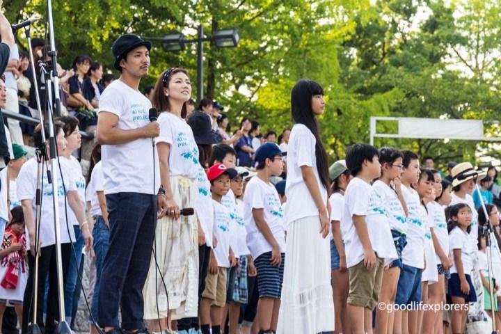 Hiroshima, Peace, ceremony, memorial, dome, genbaku, World War, Japan, 70th anniversary, lanterns, river, atomic bomb, event, cranes, paper, travel, travelblog