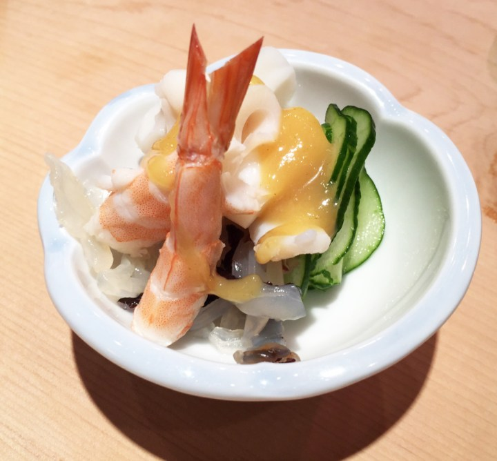 Nigiri plate - restaurant in Japan.