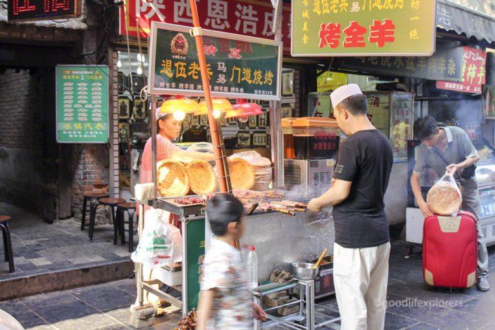 Street vendor in the Muslim Quarter in Xi'an China