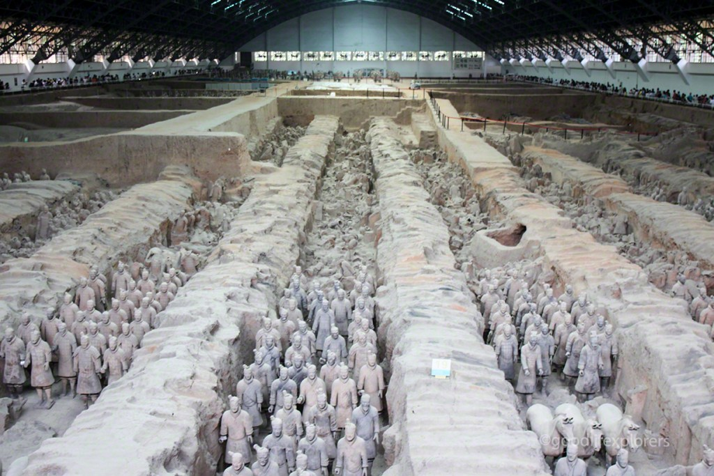 Vault where Terracotta Army in Xian stands