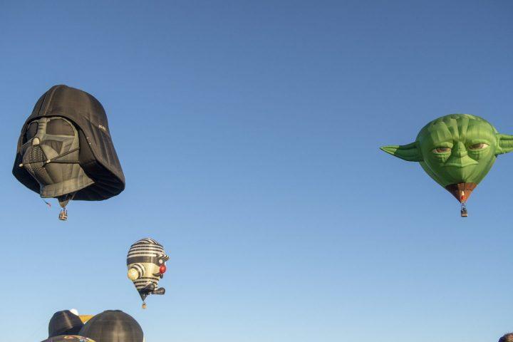 Darth Vader and Yoda Hot air balloons