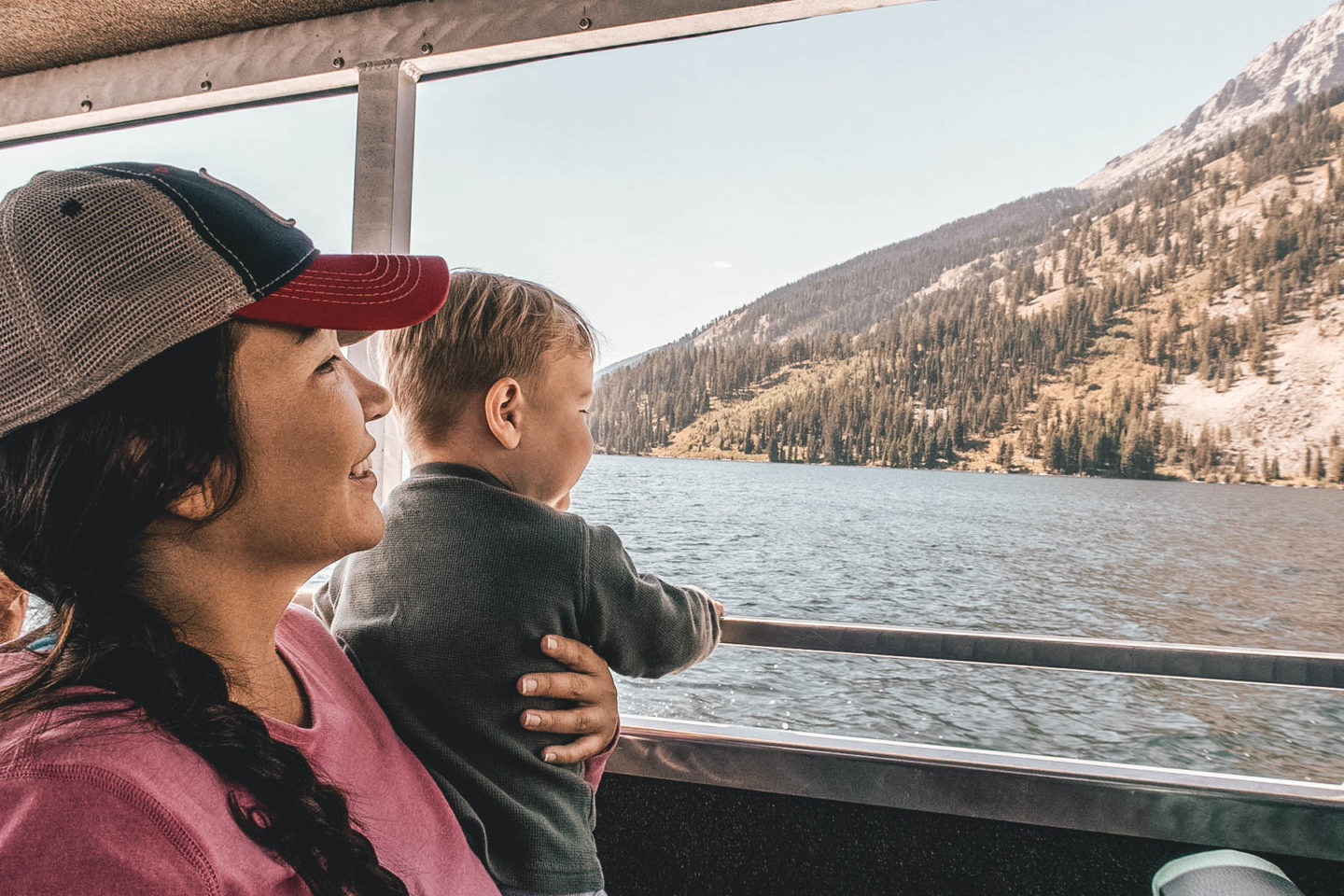 Mama and baby on Jenny Lake Boat Ride