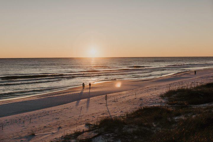 Seagrove Beach at Sunset 30A Florida
