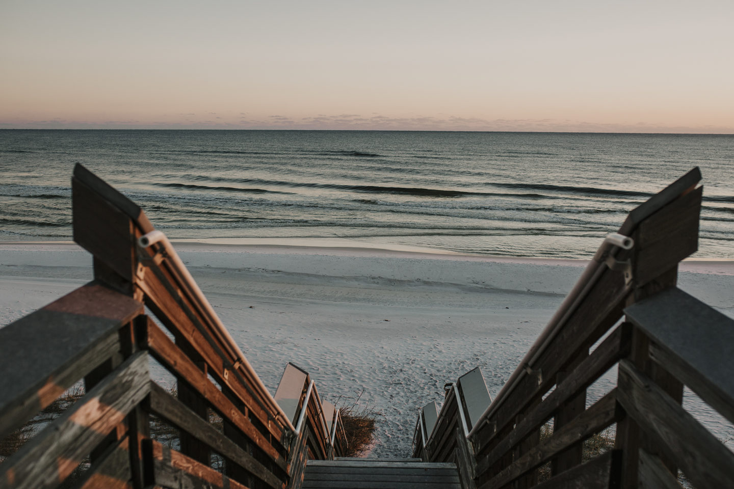Stairs to the beach in South Walton 30A Florida
