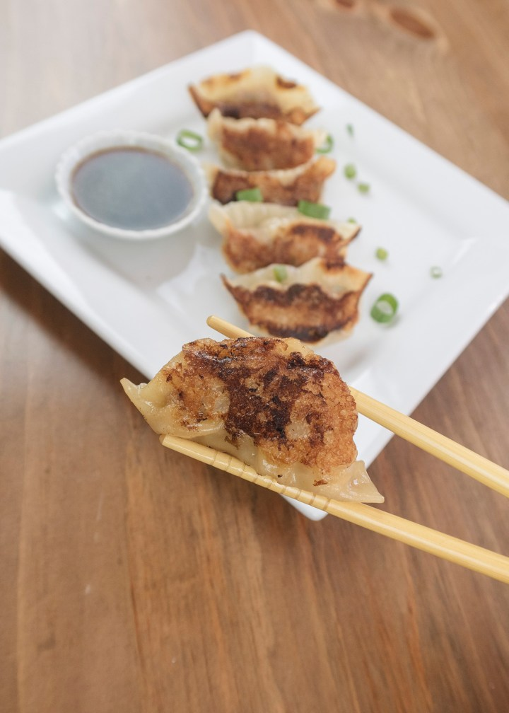 Pork gyoza recipe with dipping sauce