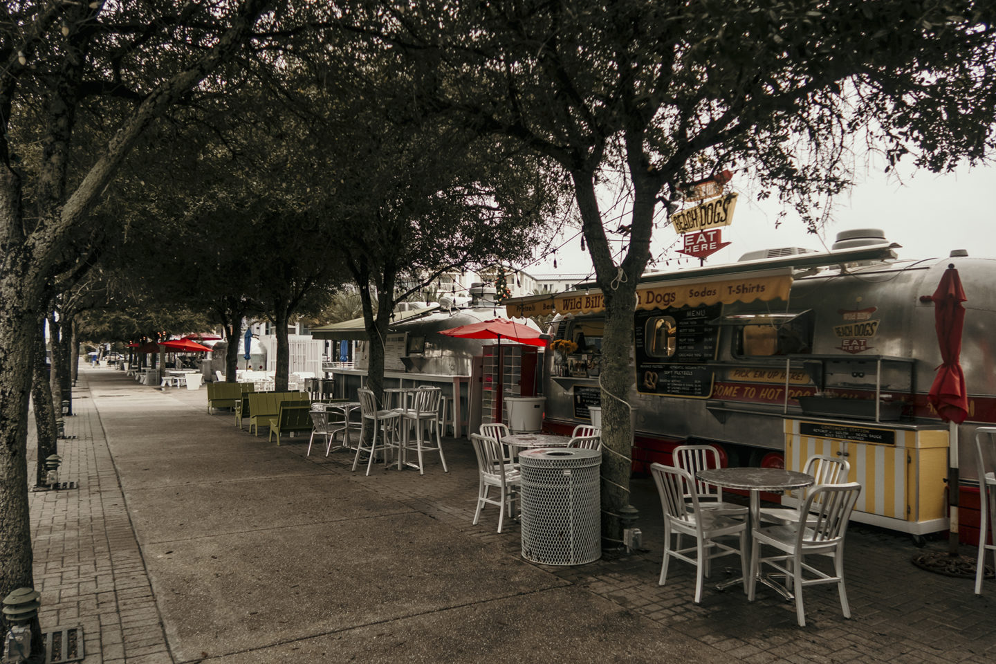 Food Truck Alley Row in Seaside Florida
