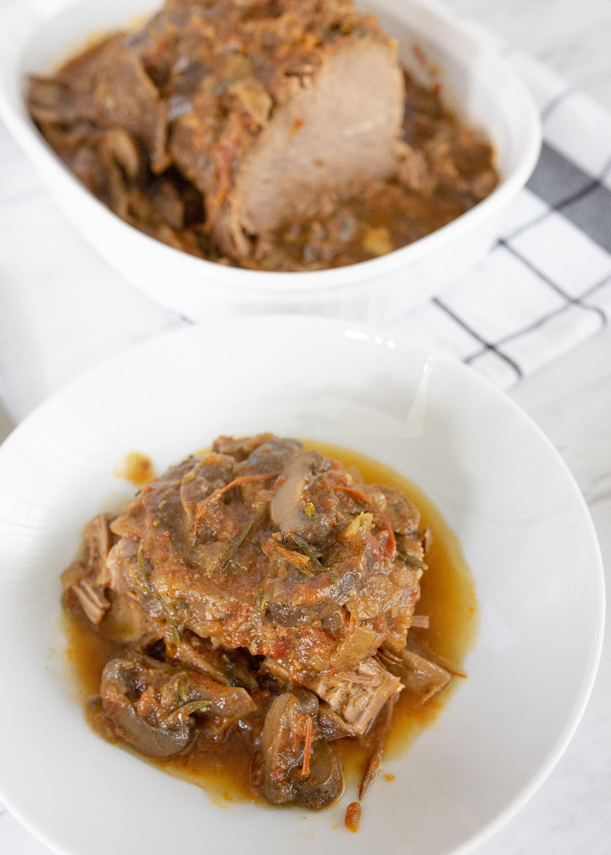 Pressure cooker pot roast traditional