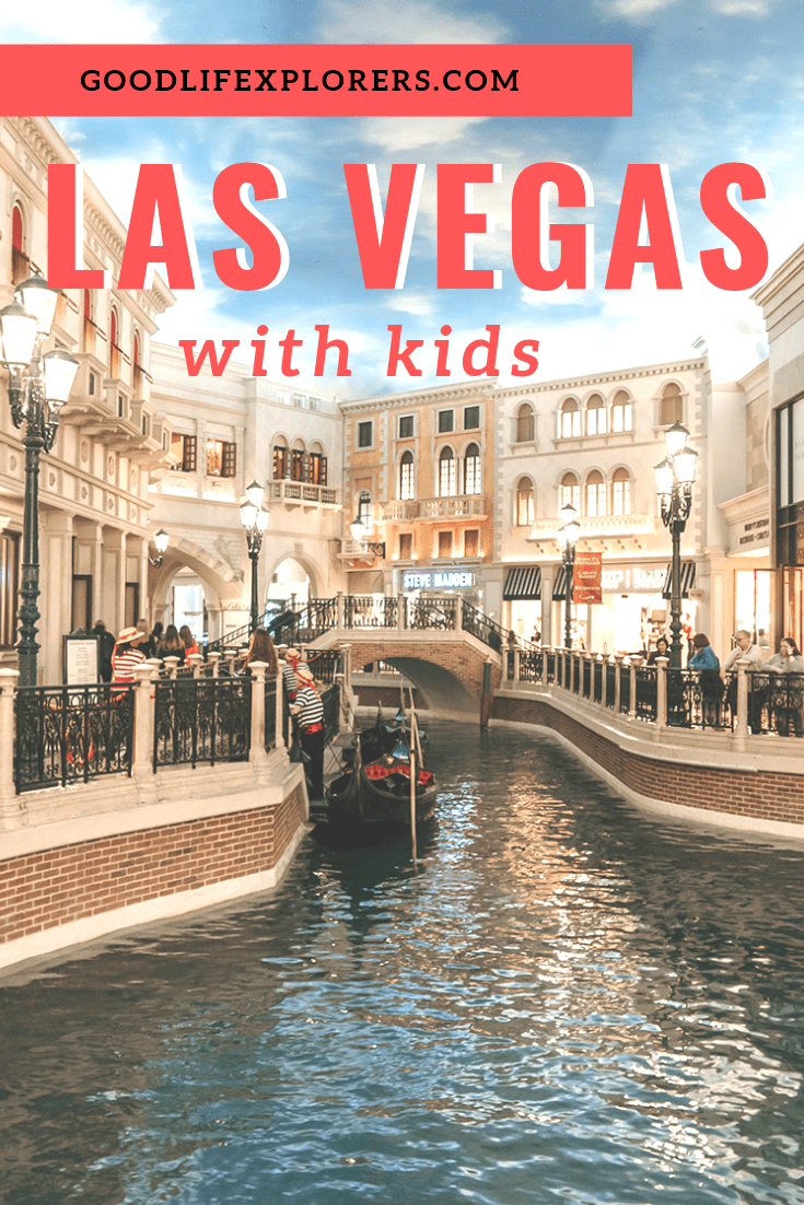 Gondola, canal and shops at the Venetian hotel in Las Vegas, NV