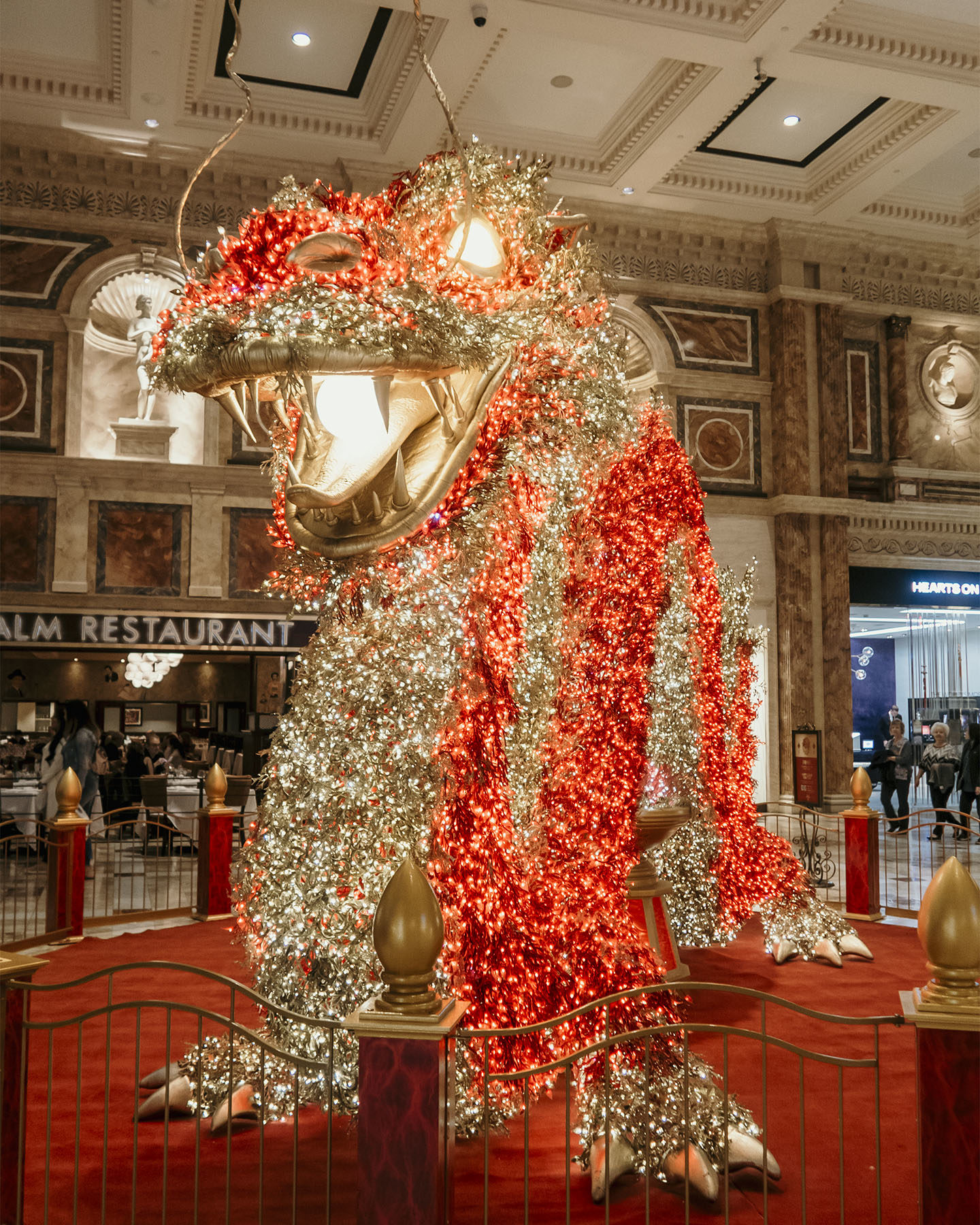 Giant Dragon light decoration at the Caesar's Palace Hotel in Las Vegas