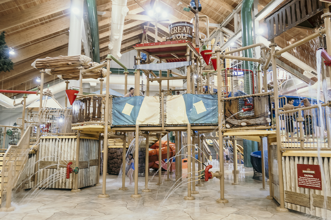 Water playground at the great Wolf Lodge