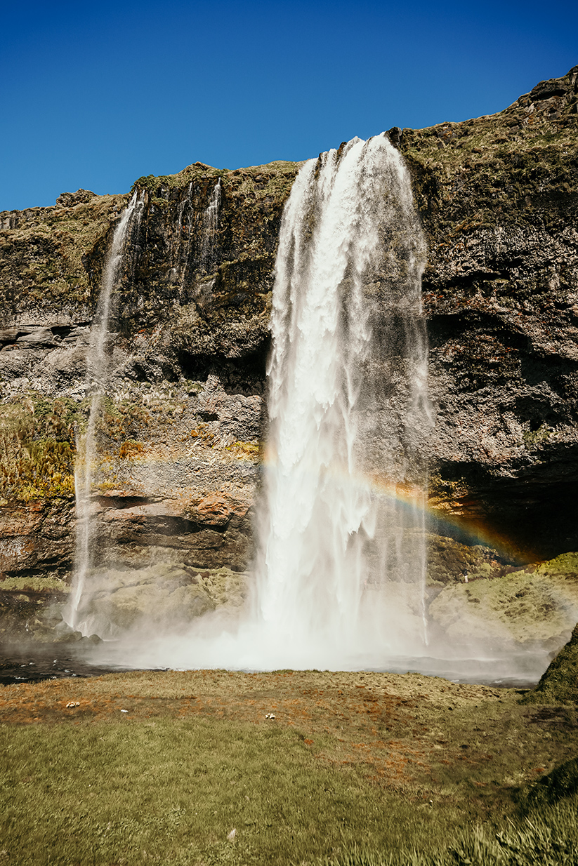 Seljalandsfoss waterfall in South Iceland Europe