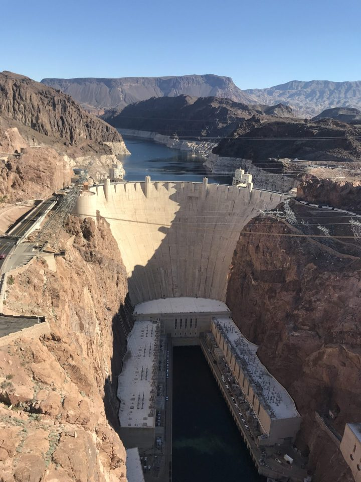 Hoover Dam in Nevada from the top