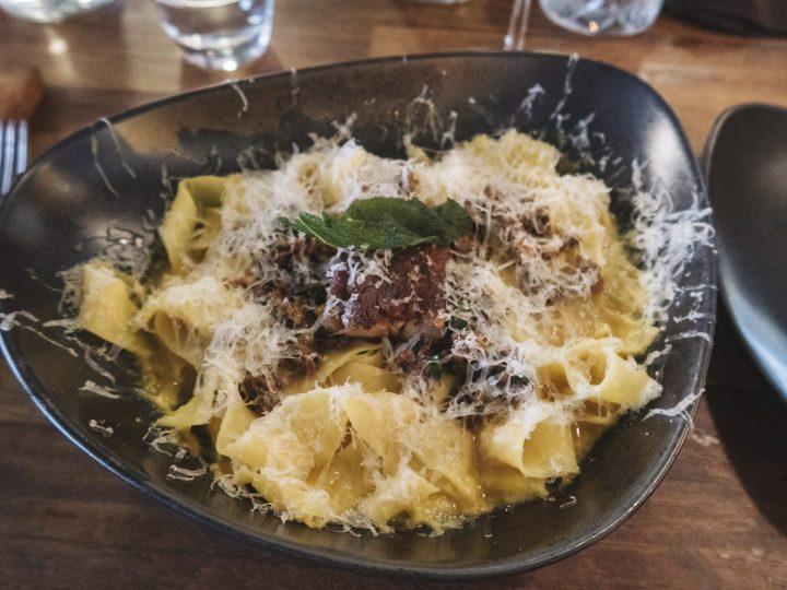 Pasta dish from the Rustic Stone Restaurant in Dublin Ireland
