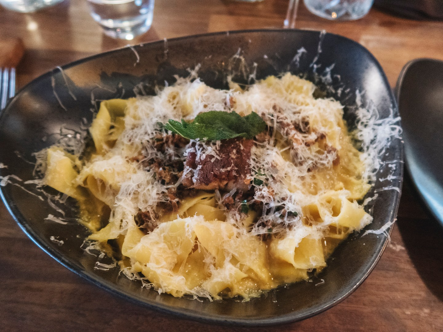 Pasta dish from the Rustic Stone Restaurant in Dublin Ireland
