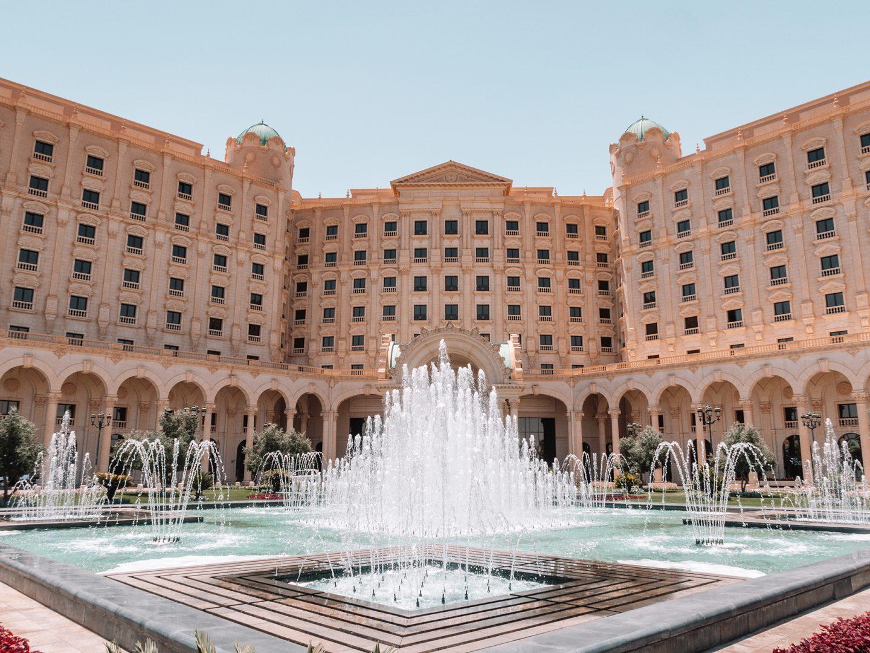 Entrance Fountains at the Ritz Carlton in Riyadh Saudi Arabia