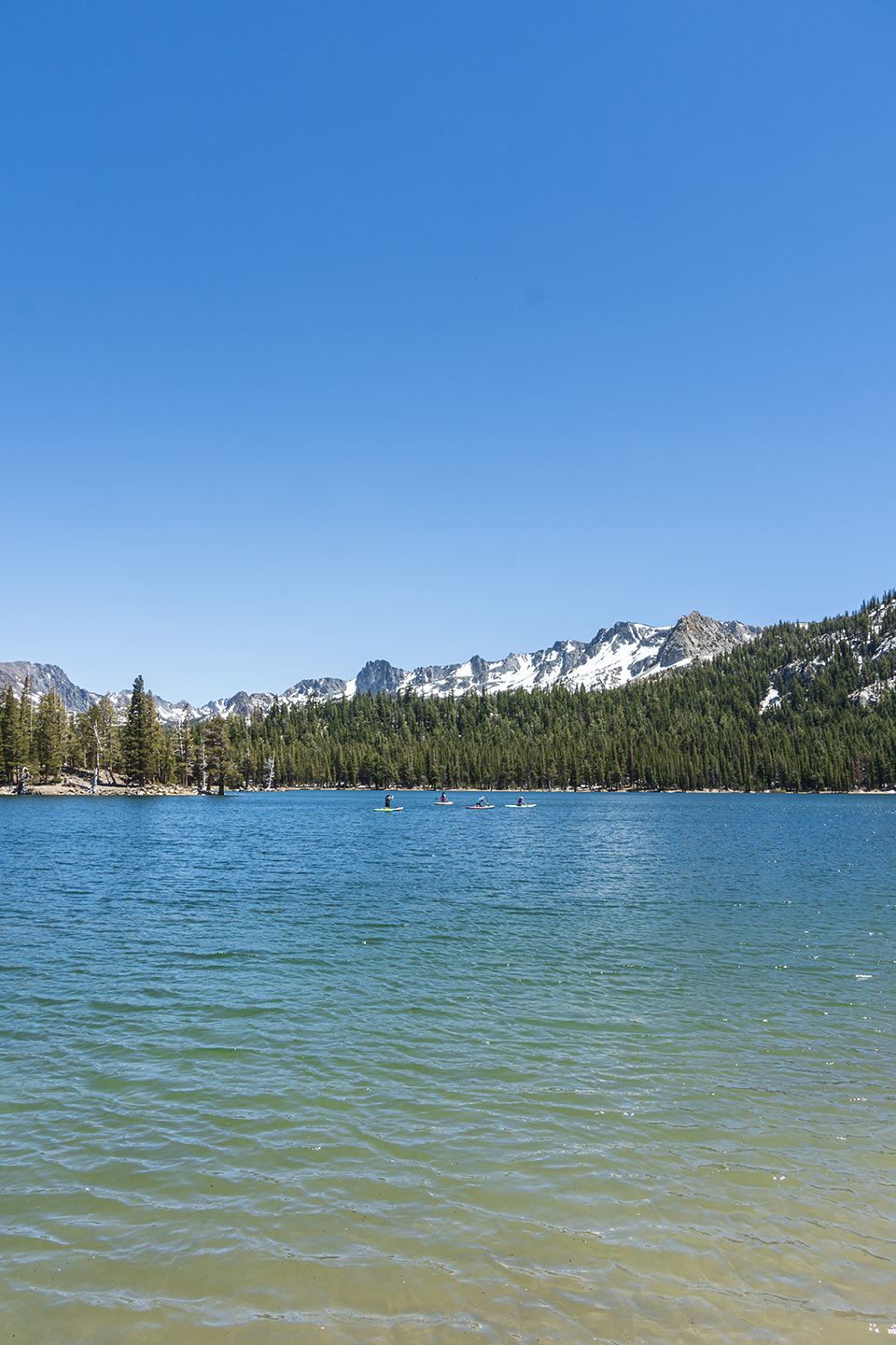 Horseshoe Lake in Mammoth Lakes Basin in California
