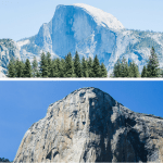 Collage of attractions in Yosemite Valley
