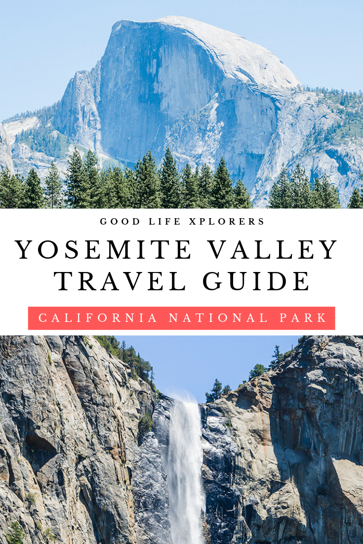 Collage of attractions at Yosemite Valley