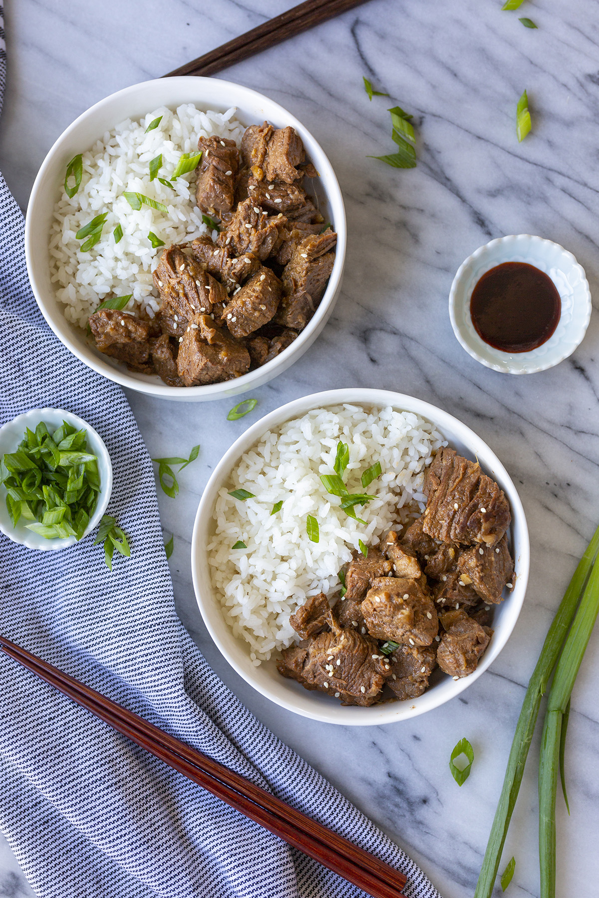 Korean Beef Bowls with rice