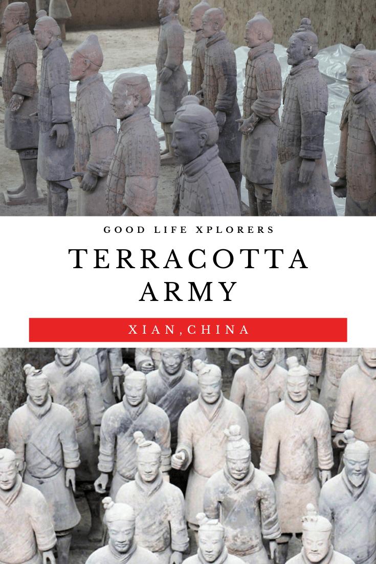 Terracotta Army in Xian China