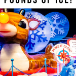 At ICE! at the Gaylord Rockies Resort in Colorado you will amazed by 2 million pounds of ice carved and dyed into the most beautiful Christmas display! It's one of the best things to do near Denver in winter for families and kids!