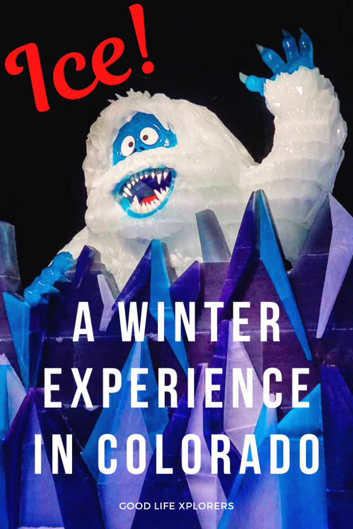 At ICE! at the Gaylord Rockies Resort in Colorado you will amazed by 2 million pounds of ice carved and dyed into the most beautiful Christmas display! It's one of the best things to do near Denver in winter for families and kids.