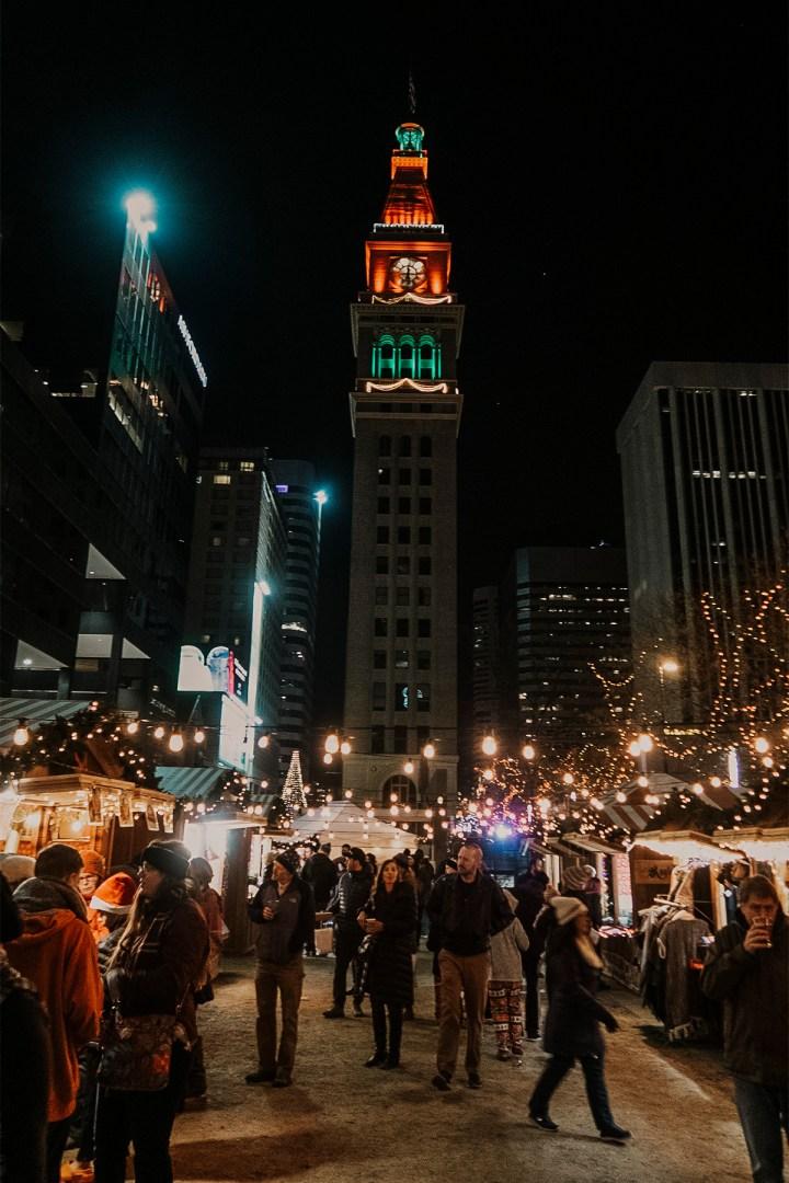 Denver Christkindl Market downtown is a German Holiday market