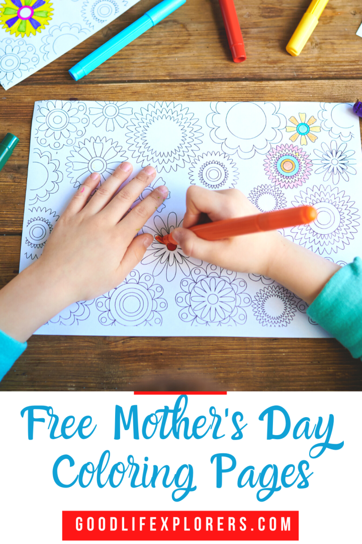 Mothers Day Coloring Pages Sheets Free Printable for Kids