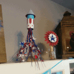 4th of July Rockets as decorations
