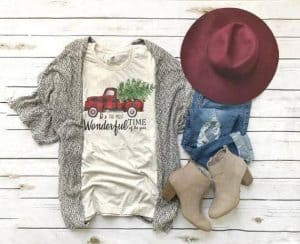 Farmhouse Decor Lovers Gift Guide Cute Vintage Truck t shirt