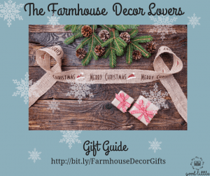 Christmas scene ribbon gifts. Farmhouse decor lovers gift guide