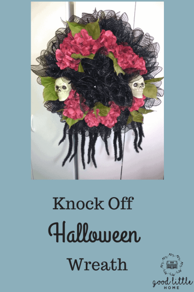 Finished Halloween Wreath
