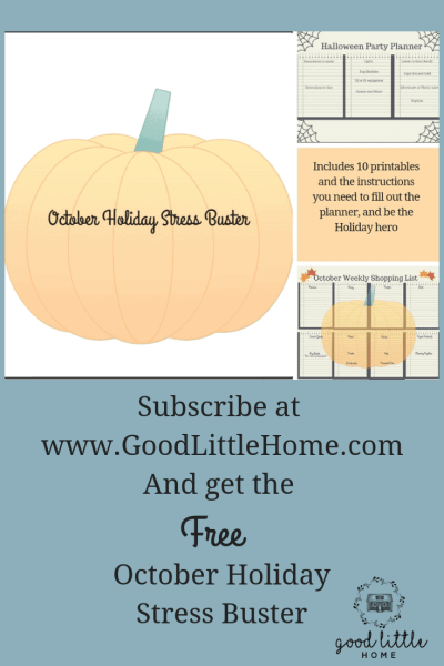 October Stress Buster Holiday Planner