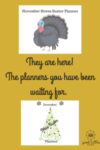 picture of a Christmas Tree and Turkey holiday planners