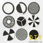 DIY: Coasters made of iron beads