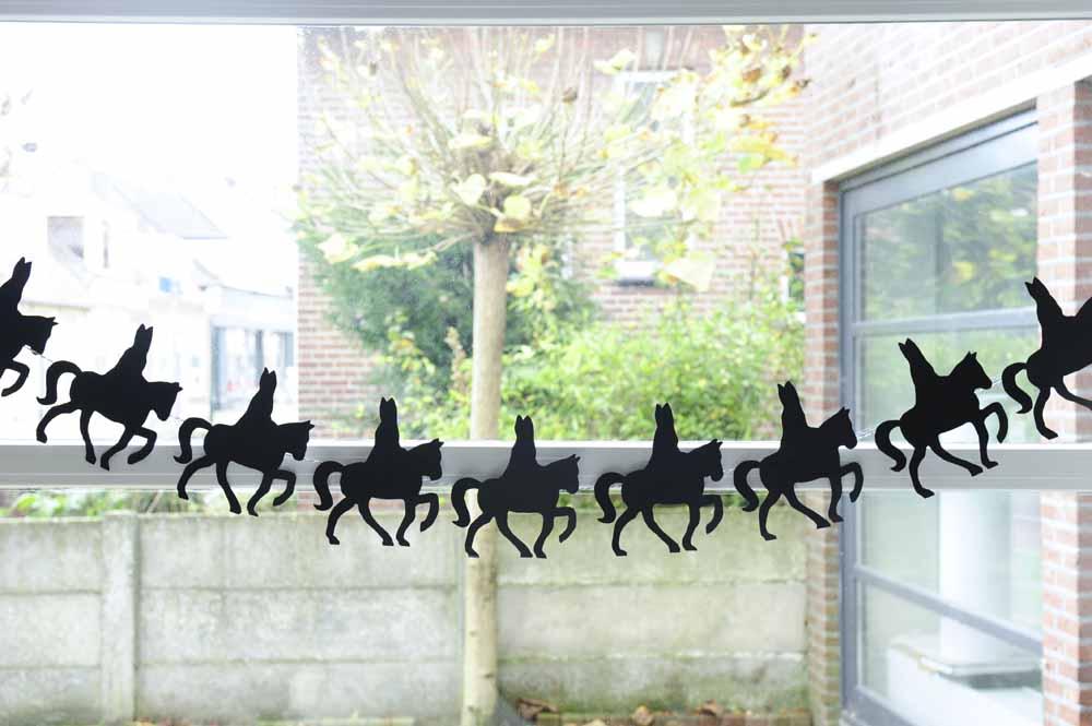 Sinterklaas slinger van silhouet